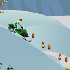 Ben 10 Snow Bike